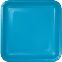 "Amazon.com: Custom & Unique {7"" Inch} 18 Count Bulk Multi-Pack Set of Medium Size Square Disposable Paper Plates w/ Simple Modern Plain Teen Birthday Celebration Party ""Bright Teal Colored"": Kitchen & Dining"