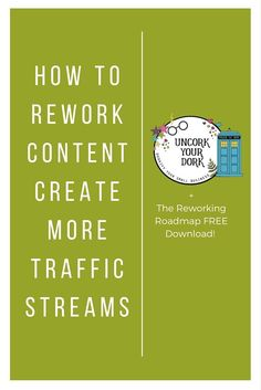 What's the point in writing great content, if you're just going to forget about a day after it's posted??  In this article (and video) I talk all about how to rework your old content so that it keeps working for you...creating a constant influx of new traffic streams!!  Click the image to read the post and grab the download!