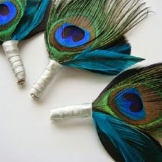 I stumbled across this portrait and fell in love with it. It is my inspiration for this peacock themed wedding board. Brilliant teals, ...
