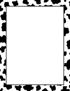 A simple black and white border with a cow print pattern. Free downloads available at http://pageborders.org/download/cow-print-border/