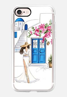 Casetify iPhone 7 Classic Grip Case - Santorini in Bloom (Phone Case) by H. Nichols Illustration #Casetify