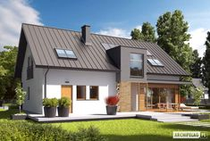 Casa cu mansarda Economic A Rural House, Good House, My Dream Home, Home Projects, House Plans, Shed, New Homes, Villa, Outdoor Structures