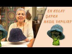 En Kolay Şapka Nasıl Örülür? - YouTube Crochet Hooded Scarf, Crochet Jumper, Crochet Headband Pattern, Baby Knitting Patterns, Knitting Designs, Crochet Patterns, Crochet Gifts, Easy Crochet, Sombrero A Crochet