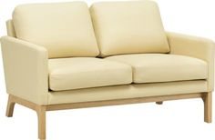 COVE TWIN SEATER NATURAL LEG, CREAM PU LEATHER MDNFURLOU291