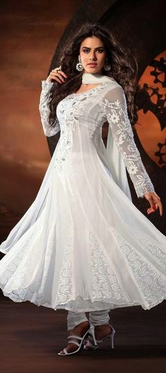 412924: Another Snow-white collection.   #anarkali #partywear #bridesmaid