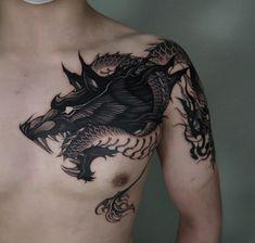 Girl Back Tattoos, Boy Tattoos, Body Art Tattoos, Tribal Tattoos, Hand Tattoos, Tattoos For Guys, Tattoo Designs And Meanings, Tattoo Sleeve Designs, Wolf Tattoo Sleeve
