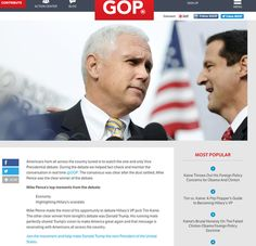 Oops! RNC declares Pence winner of veep debate before it starts     - CNET  Oops. The Republican National Committee called the vice presidential debate for Mike Pence before it even began.                                             CBS                                          Perhaps the Republicans are playing Jedi mind tricks.  The Republican National Committee (RNC) on Tuesday apparently (or by accident) declared on its website that Mike Pence was the winner of the vice presidential…