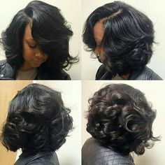 Cheap hair, Buy Quality wig hair products directly from China wig real hair Suppliers:   Short Curly Bob U Part Human Hair Wigs For Black Women Glueless Right Side U Part Bob Wig V Love Hair, Gorgeous Hair, Curly Hair Styles, Natural Hair Styles, Hair Laid, My Hairstyle, Hair Dos, Human Hair Wigs, Hair Hacks