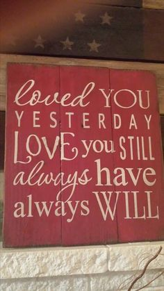 This sign is 16x16 made of 3 wood boards and paint. What a beautiful sign for your home. Express your love with this nice artwork. - $42.00