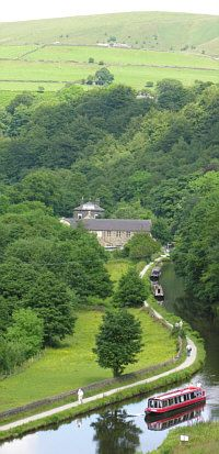 - A Shire Cruisers narrowboat holiday above Hebden Bridge, Yorkshire, on the Rochdale Canal Narrowboat Holidays, Canal Boat Holidays, Places To Travel, Places To Go, Canal Barge, Hebden Bridge, England And Scotland, English Countryside, British Isles