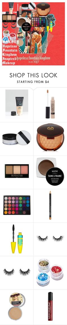 """""""HALSEY Hopeless Fountain Kingdom Inspired Makeup"""" by oroartyellie on Polyvore featuring beauty, Fountain, Maybelline, Illamasqua, The Body Shop, NYX, Morphe, Velour Lashes, FromNicLove and MAC Cosmetics"""