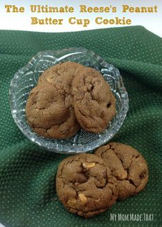 My Mom Made That: The Ultimate Reese Peanut Butter Cookie!  Tastes just like the candy! Delicious!