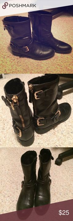 Black leather boots Black leather boots. All posts open to offers, trades, custom/bundled deals, M, Ven. Shoes Combat & Moto Boots