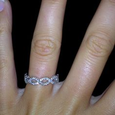 Beautiful infinity band. I always thought I liked a simple band to go with the engagement ring, but this is a stunning all-in-one kind of ring.