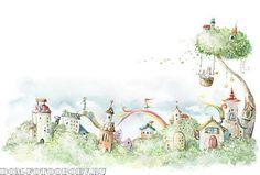сказочный город на стене - Поиск в Google