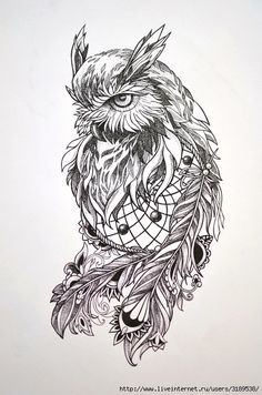 Owl Dreamcatcher Tattoo Love this one for sure Owl Tattoo Design, Tattoo Designs, Owl Tattoo Drawings, Tattoo Sketches, Owl Sleeve Tattoos, Art Sketches, Owl Dreamcatcher Tattoo, Lechuza Tattoo, Buho Tattoo