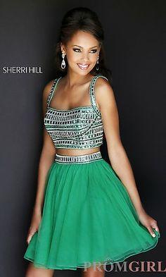 two-piece prom dress