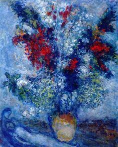 Flower Bouquet - Marc Chagall  1982