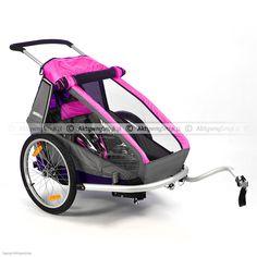 Przyczepka rowerowa Croozer Kid for 1 różowa