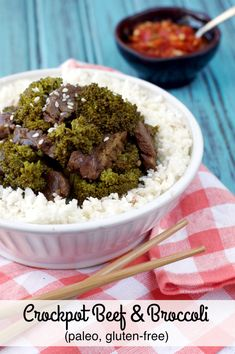 Paleo Crockpot Beef and Broccoli | Plaid and Paleo