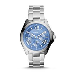 Fossil Women's Watch Cecile Multifunction Stainless Steel Silver Blue AM4565 #Fossil #Casual