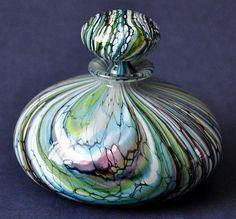Isle of Wight Studio Glass Stratum Aqua ST3L Perfume Bottle http://www.bwthornton.co.uk/isle-of-wight-richard-golding-bath-aqua-glass.php