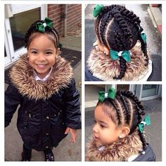 Image result for simple hairstyles for black girls hair on picture day