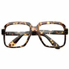 278e1920e4 Run DMC Rapper Retro Large Clear Lens Eye Glasses Leopard QLook.  10.99.  Lens width