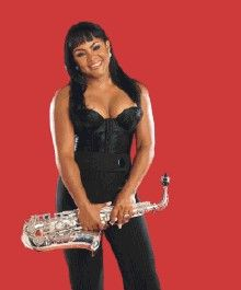 Pamela Williams made her recording debut, Saxtress in 1996 which found a home on the Billboard charts for five consecutive months. Description from womeninjazz.org. I searched for this on bing.com/images