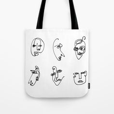 Buy Faces Collection - Family Tote Bag by lumenbigott. Worldwide shipping available at Society6.com. Just one of millions of high quality products available.