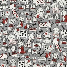 Timeless Treasures Mixed Dog Breeds Grey Fabric By The Yard Michael Miller, Animals For Kids, Animals And Pets, Tier Doodles, Animal Doodles, Dog Illustration, Cat Cards, Dog Pattern, Cartoon Dog