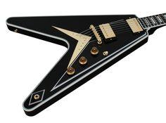 Gibson Custom Shop Benchmark Collection 2013 Limited Run Flying V Custom Ebony