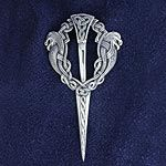 Silver celtic jewellery Kilt pins handcrafted in the Outer Hebrides
