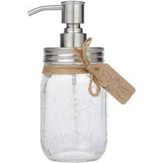 Foaming Stainless Steel Mason Jar Countertop Soap Dispenser by Nicole-Rhea (Satin Brushed)