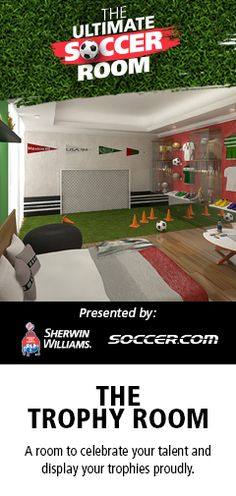 The+Ultimate+Soccer+Room+Sweepstakes SOCCER ❤️ 99% soccer 1% everthing else Perfect for my bland never done room...