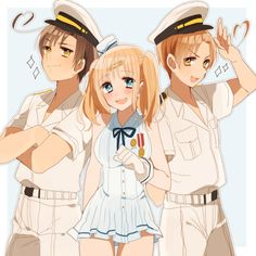 Just to give you a fact. This is NOT Nyo!Sealand. It's one of the personified warships of Italy.