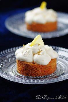 Tarte sablé breton, mousse légère au citron- Crostata sablé breton, mousse leggera al limone