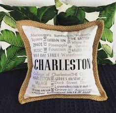 Charleston Pillow - The Perfect Gift Carolina Pride, Charleston South Carolina, Charleston Homes,