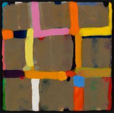 """Kathleen Waterloo   Grid, 2010   encaustic on panel, 9""""x9"""" sm"""