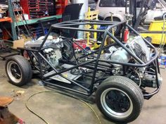 tube chassis for a Mini Cooper that will get a Porsche 944 engine