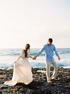 Romantic Tulum Engagement Session in a Handmade Gown   Wedding Sparrow   Michelle Boyd Photography
