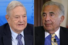 Herbalife activists are calling on investors Carl Ichan (right) and George Soros (left) to sell their stakes in the company.