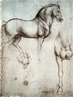 Leonardo da Vinci the only man that can draw a horse