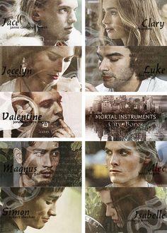 THE MORTAL INSTRUMENTS by Cassandra Clare| Jace, Clary, Jocelyn, Luke, Valentine, Magnus, Alec, Simon & Isabelle.