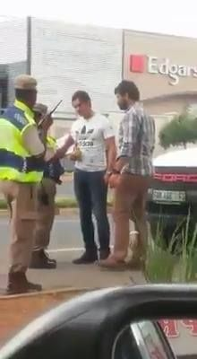Oyinbo Man Slaps South African Police Officer Like A Child Lol