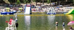 Lake Gregory, fun, water slides, swimming, boating and camping.