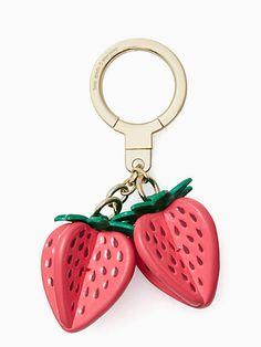 Kate Spade Strawberry keychain