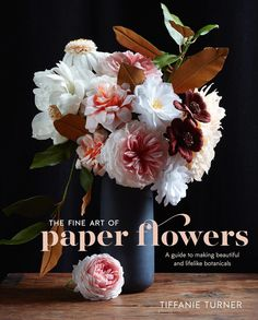 "The first book by the American paperartist Tiffanie Turner: ""The Fine Art of Paper Flowers: A Guide to Making Beautiful and Lifelike Botanicals"" - December 2016: available for preorders on Amazon."