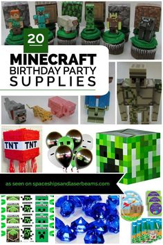 20 Awesome Minecraft Party Supplies - Spaceships and Laser Beams