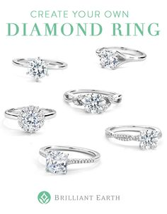 >>>Pandora Jewelry OFF! >>>Visit>> Create your own diamond ring! Select your ideal ring setting and pair it with an exceptional beyond conflict free diamond. Dream Engagement Rings, Engagement Ring Settings, Ring Ring, Bling Bling, Conflict Free Diamonds, Dream Ring, Diamond Are A Girls Best Friend, Beautiful Rings, Pretty Rings